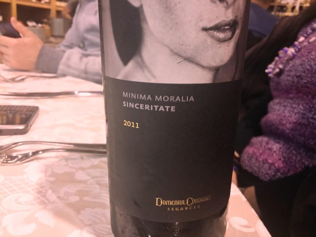 vin alb Minima Moralia - Sinceritate